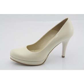 Ekrü esküvői, menyasszonyi cipő Ginata