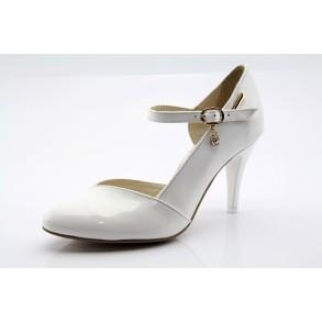 Fehér menyasszonyi esküvői cipő Virginia
