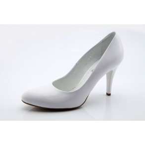 65c8ab043b Ann fehér esküvői menyasszonyi cipő