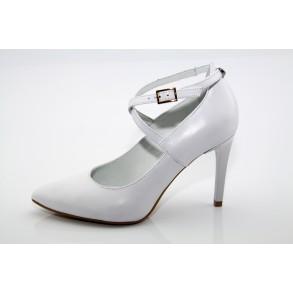 Fehér esküvői, menyasszonyi cipő Isabel