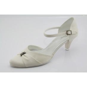 Bézs esküvői, menyasszonyi cipő Agnes