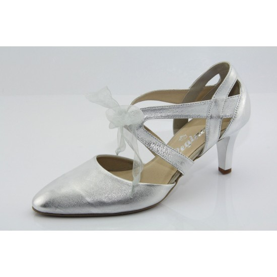 Ezüst menyasszonyi cipő Ines