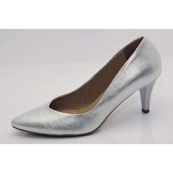 Ezüst menyasszonyi cipő Flower