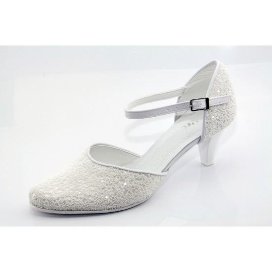 Fehér menyasszonyi cipő Cheryl2
