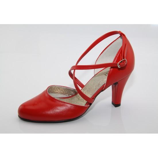 Menyecske tánccipő piros Lady Art