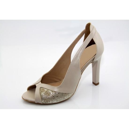 Alkalmi cipő beige-arany Svana