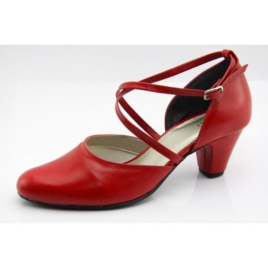 Piros cipő menyecske Lady Art2