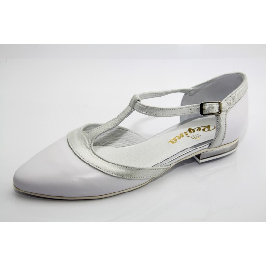 Esküvői cipő fehér-ezüst  Julietta