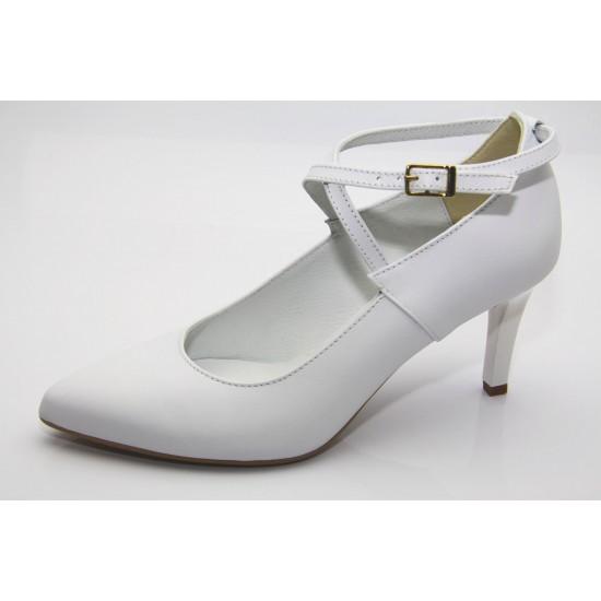 Fiatalos keresztpántos menyasszonyi cipő Isabel 2
