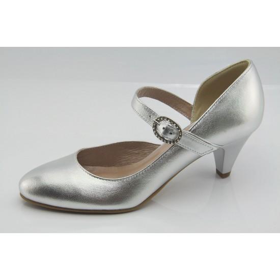 Ezüst alkalmi cipő esküvőre Zoey
