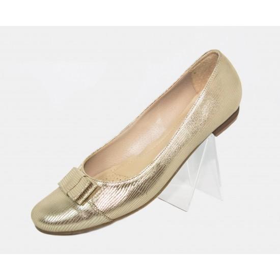 Elisa  arany alkalmi balerina bőr cipő