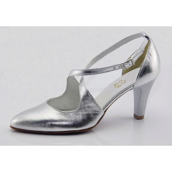 Ezüst menyasszonyi cipő Eline